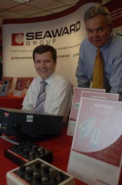 Andrew Upton, managing director of Seaward, with Rod Taylor, company founder
