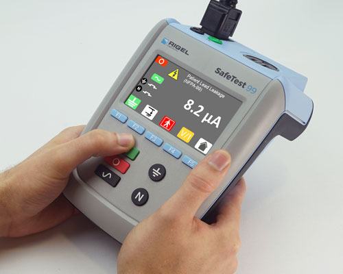 SafeTest 99 Electrical Safety Analyzer in Hand