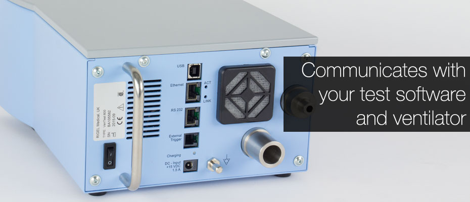 VenTest 800 Series of gas flow analyzers connection ports